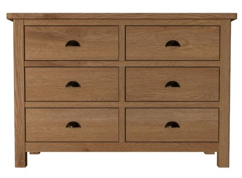 Richmond Rustic Oak 6 Drawer Chest